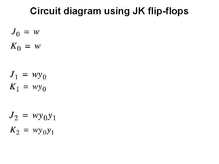 Circuit diagram using JK flip-flops