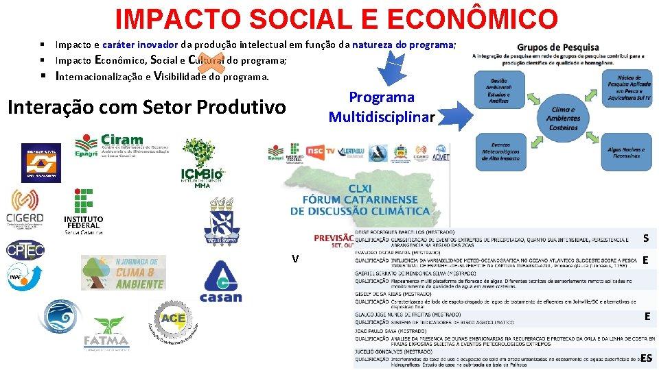 IMPACTO SOCIAL E ECONÔMICO § Impacto e caráter inovador da produção intelectual em função