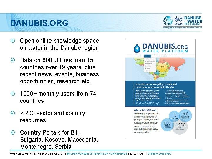DANUBIS. ORG Open online knowledge space on water in the Danube region Data on