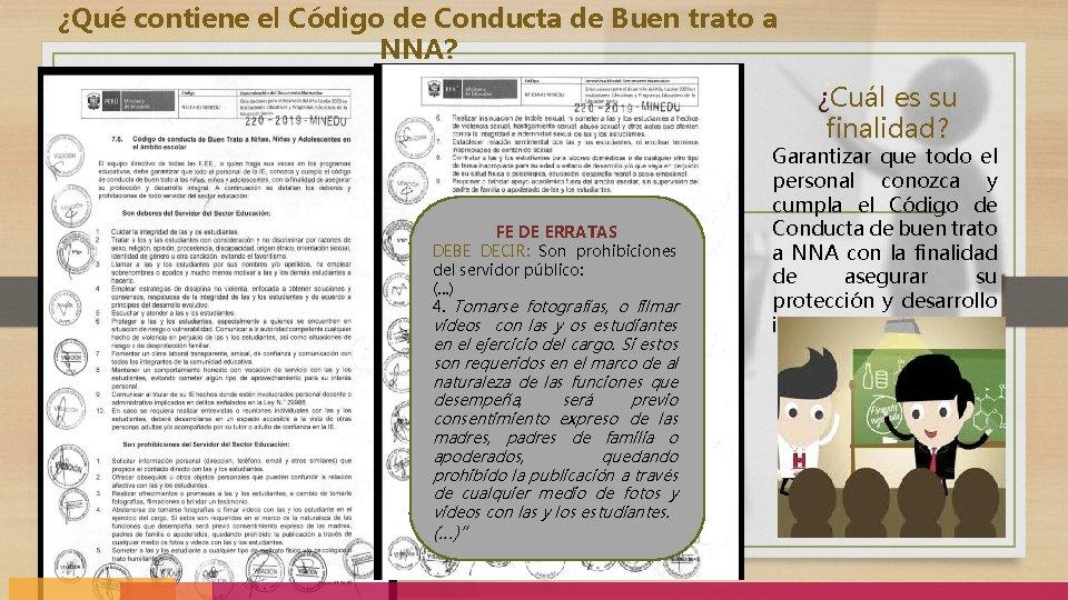 ¿Qué contiene el Código de Conducta de Buen trato a NNA? ¿Cuál es su