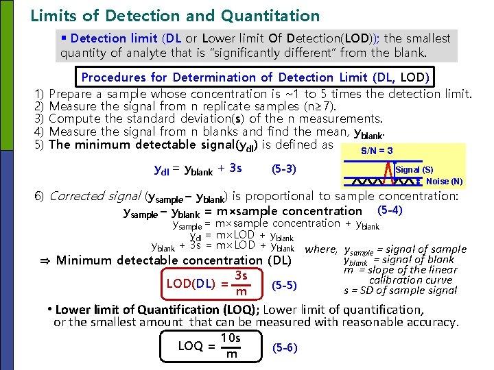 Limits of Detection and Quantitation § Detection limit (DL or Lower limit Of Detection(LOD));