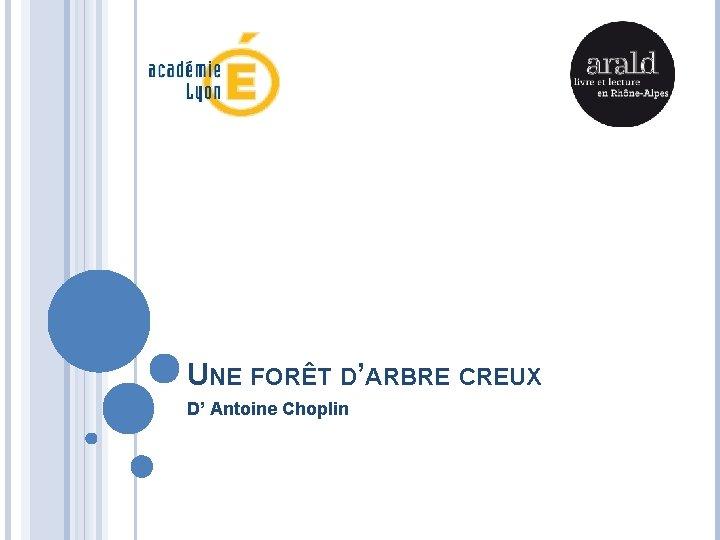 UNE FORÊT D'ARBRE CREUX D' Antoine Choplin