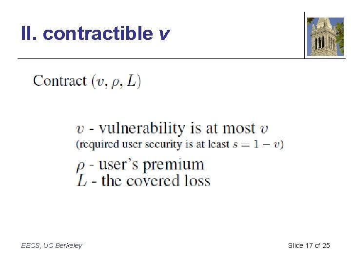II. contractible v EECS, UC Berkeley Slide 17 of 25