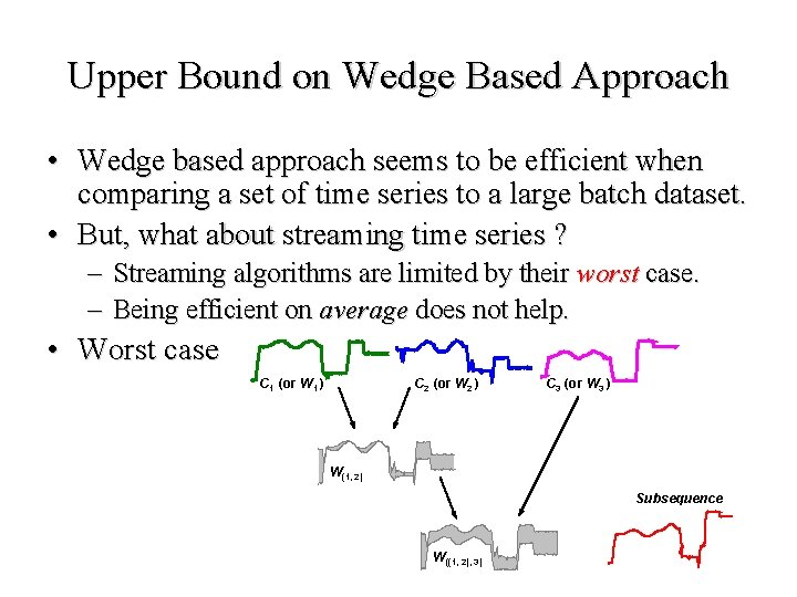 Upper Bound on Wedge Based Approach • Wedge based approach seems to be efficient