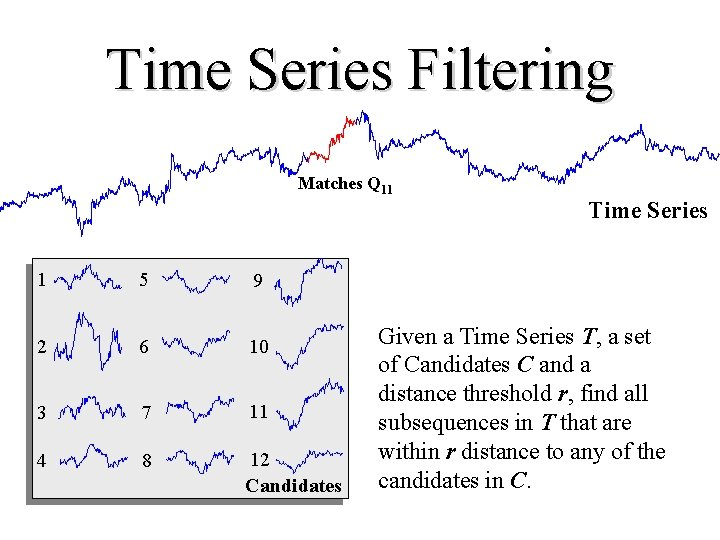 Time Series Filtering Matches Q 11 Time Series 1 5 9 2 6 10