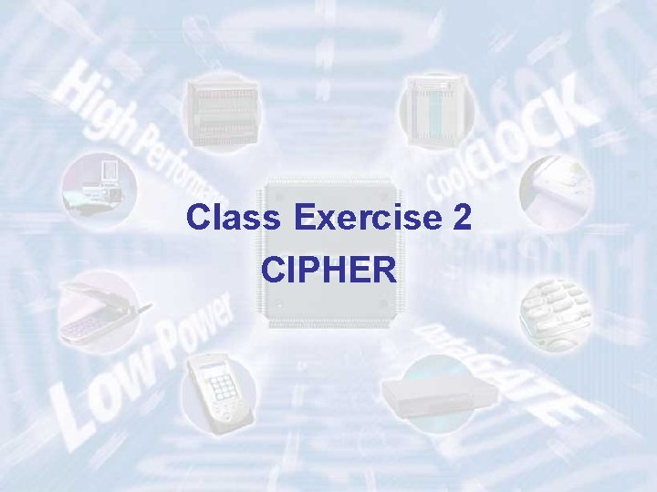 Class Exercise 2 CIPHER