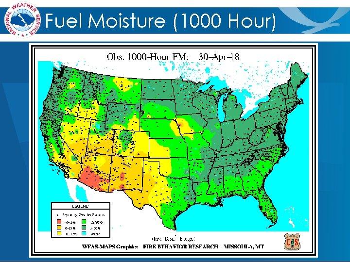 Fuel Moisture (1000 Hour)