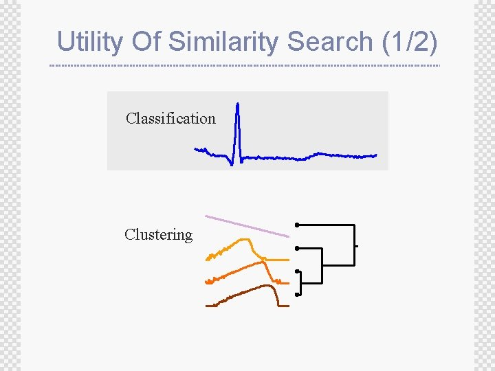 Utility Of Similarity Search (1/2) Classification Clustering