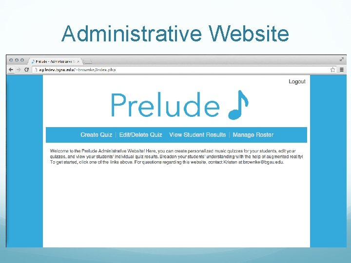 Administrative Website