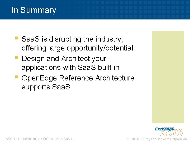 In Summary § Saa. S is disrupting the industry, § § offering large opportunity/potential