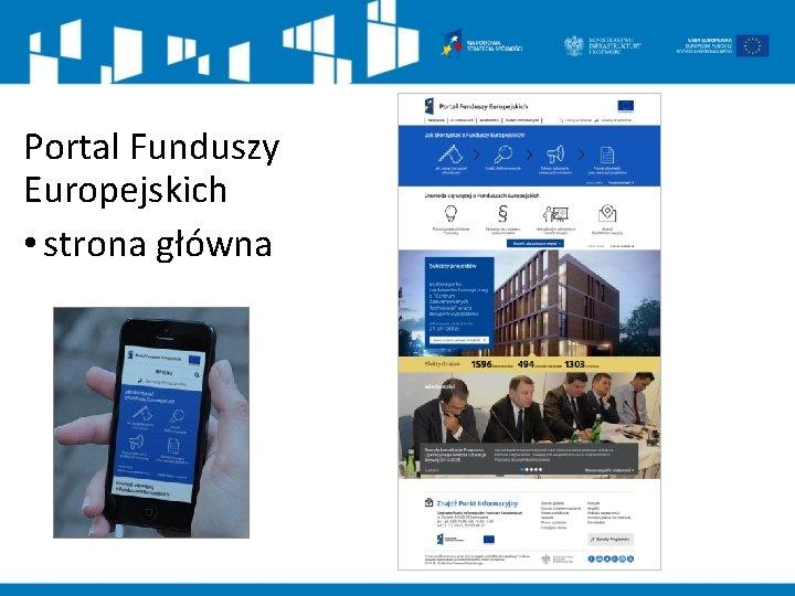 Portal Funduszy Europejskich • strona główna