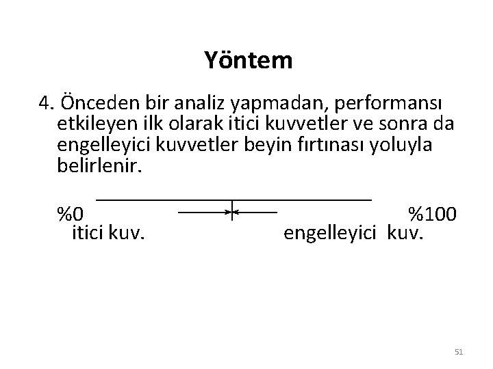 Yöntem 4. Önceden bir analiz yapmadan, performansı etkileyen ilk olarak itici kuvvetler ve sonra