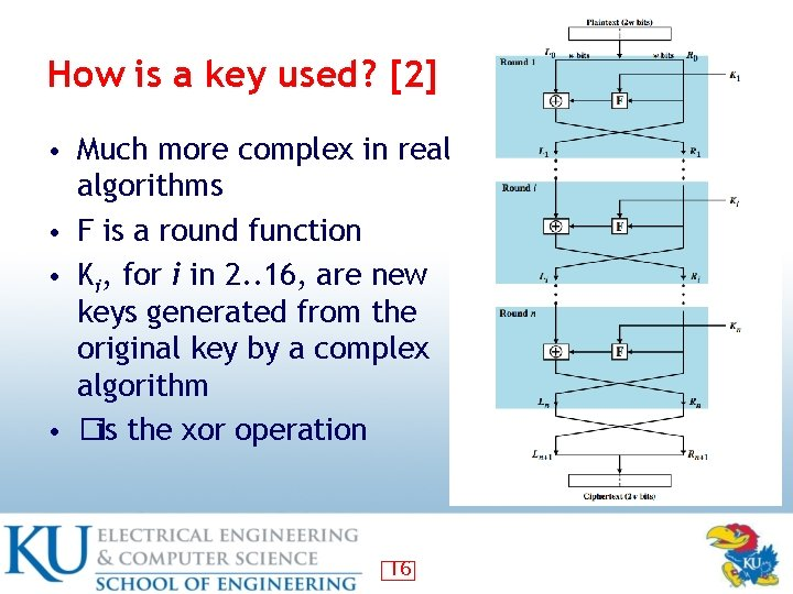 How is a key used? [2] • Much more complex in real algorithms •