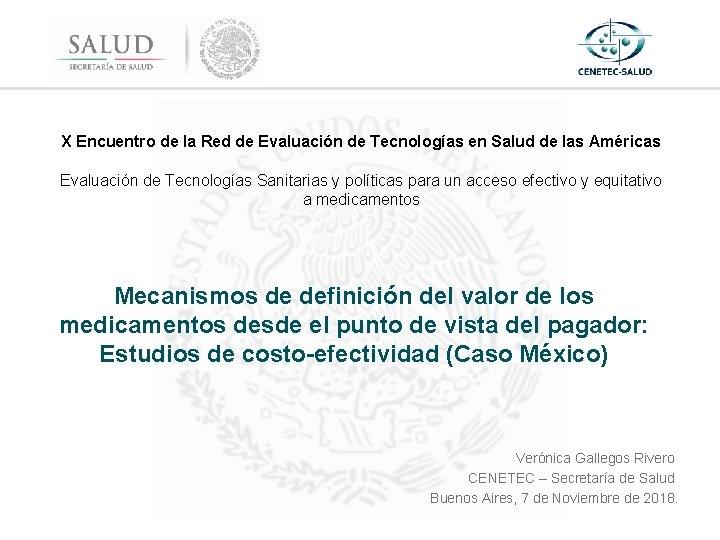 X Encuentro de la Red de Evaluación de Tecnologías en Salud de las Américas