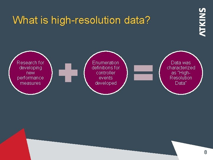 What is high-resolution data? Research for developing new performance measures Enumeration definitions for controller