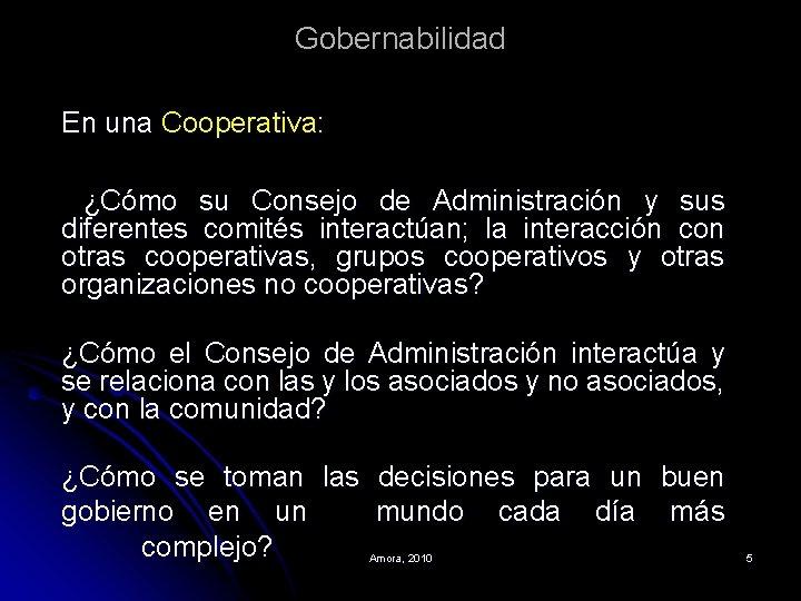 Gobernabilidad En una Cooperativa: ¿Cómo su Consejo de Administración y sus diferentes comités interactúan;