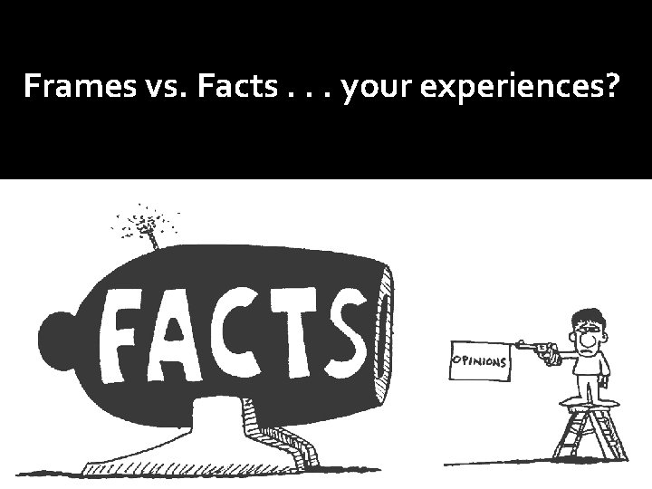 Frames vs. Facts. . . your experiences?