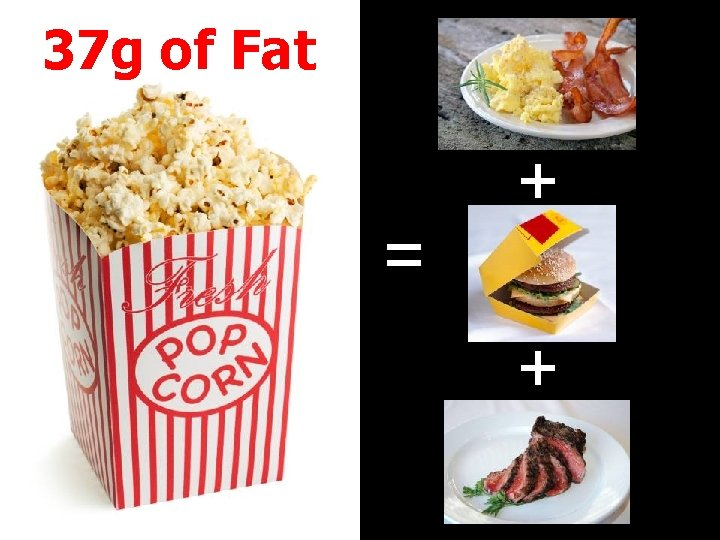 37 g of Fat = + +