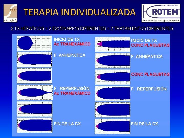 TERAPIA INDIVIDUALIZADA 2 TX HEPATICOS = 2 ESCENARIOS DIFERENTES = 2 TRATAMIENTOS DIFERENTES INICIO
