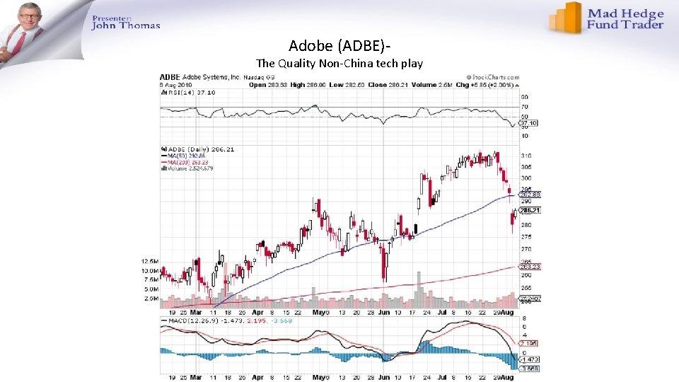 Adobe (ADBE)- The Quality Non-China tech play