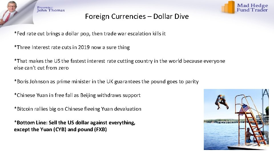 Foreign Currencies – Dollar Dive *Fed rate cut brings a dollar pop, then trade