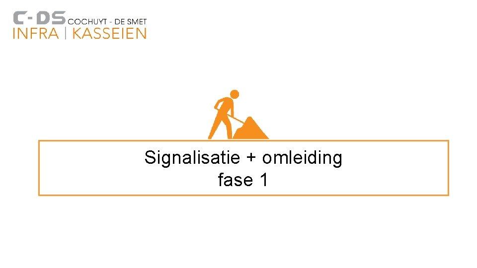 Signalisatie + omleiding fase 1