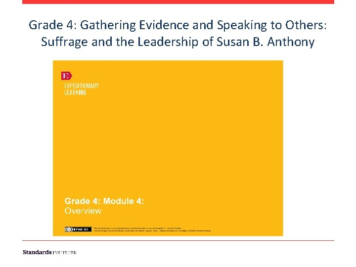 Grade 4: Gathering Evidence and Speaking to Others: Suffrage and the Leadership of Susan