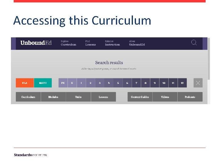 Accessing this Curriculum