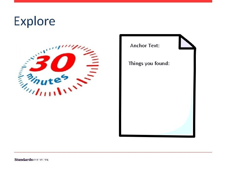 Explore Anchor Text: Things you found: