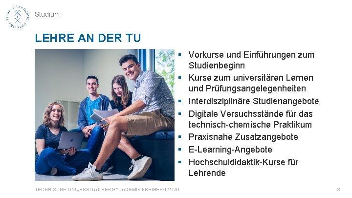 Studium LEHRE AN DER TU § Vorkurse und Einführungen zum Studienbeginn § Kurse zum