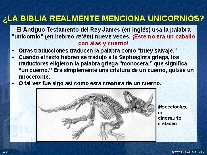 ¿LA BIBLIA REALMENTE MENCIONA UNICORNIOS? El Antiguo Testamento del Rey James (en inglés) usa