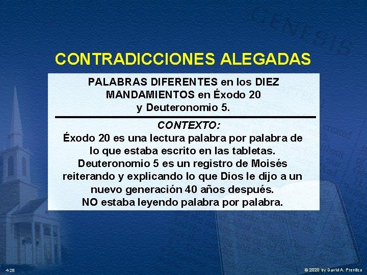 CONTRADICCIONES ALEGADAS PALABRAS DIFERENTES en los DIEZ MANDAMIENTOS en Éxodo 20 y Deuteronomio 5.