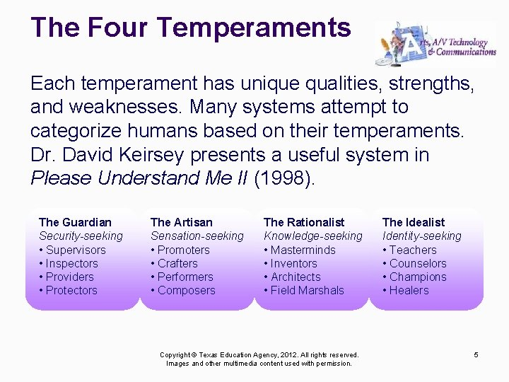 The Four Temperaments Each temperament has unique qualities, strengths, and weaknesses. Many systems attempt