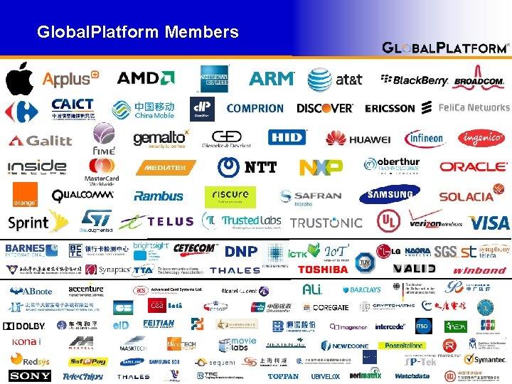 Global. Platform Members