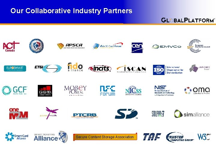Our Collaborative Industry Partners Secure Content Storage Association