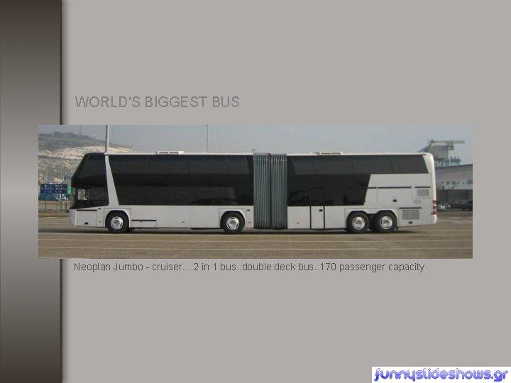 WORLD'S BIGGEST BUS Neoplan Jumbo - cruiser. . 2 in 1 bus. . double