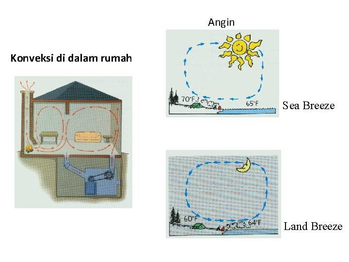 Angin Konveksi di dalam rumah Sea Breeze Land Breeze