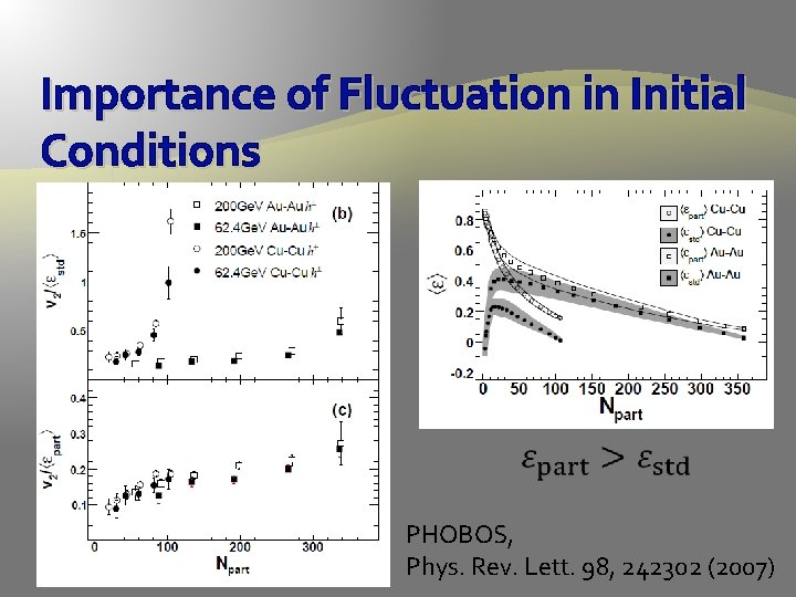 Importance of Fluctuation in Initial Conditions PHOBOS, Phys. Rev. Lett. 98, 242302 (2007)