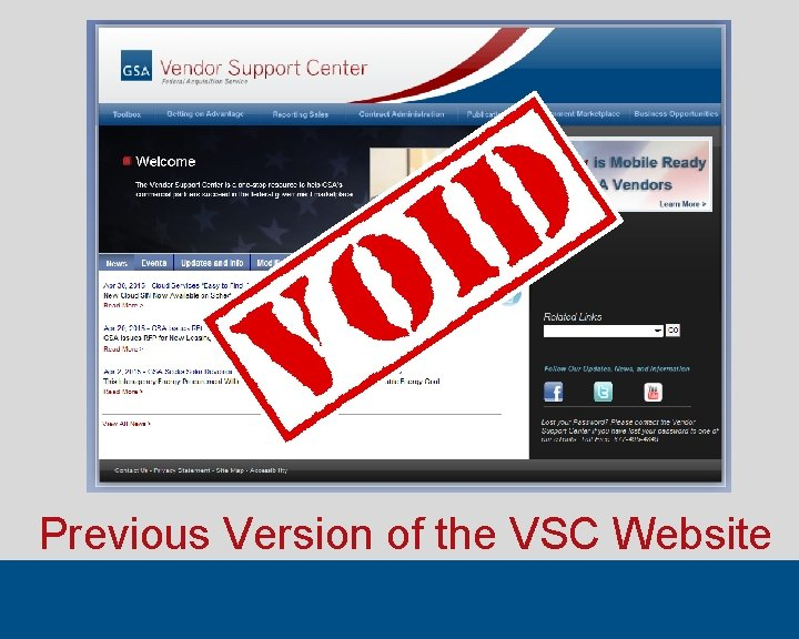 Previous Version of the VSC Website