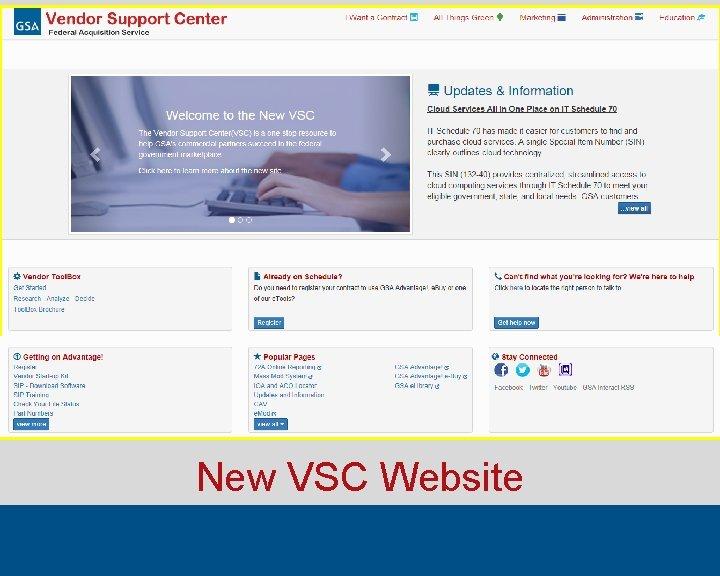 New VSC Website