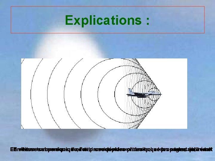 Explications : transsonique, il sel'avion déplace la même vitesse qu'il En Envitesse subsonique, supersonique,