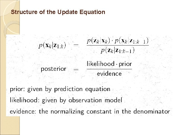 Structure of the Update Equation