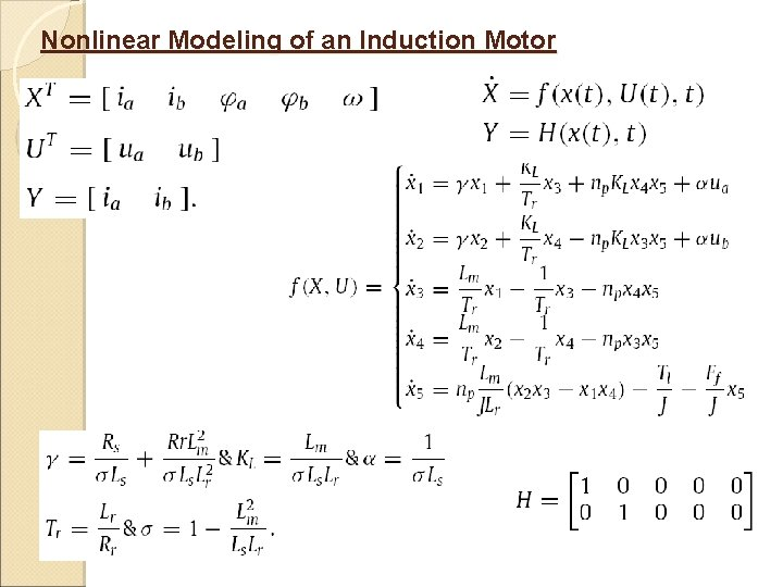 Nonlinear Modeling of an Induction Motor