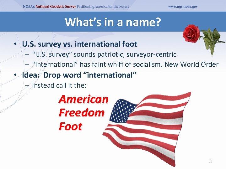 "What's in a name? • U. S. survey vs. international foot – ""U. S."