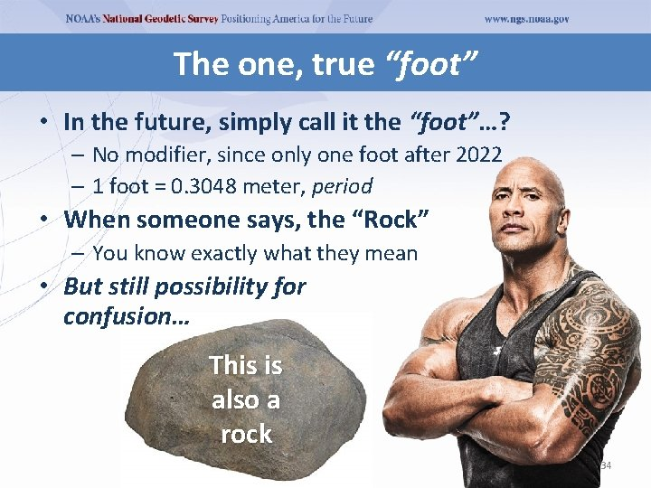 """The one, true """"foot"""" • In the future, simply call it the """"foot""""…? –"""