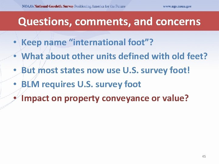 """Questions, comments, and concerns • • • Keep name """"international foot""""? What about other"""