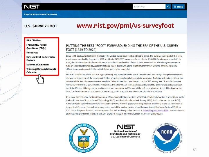 www. nist. gov/pml/us-surveyfoot 54