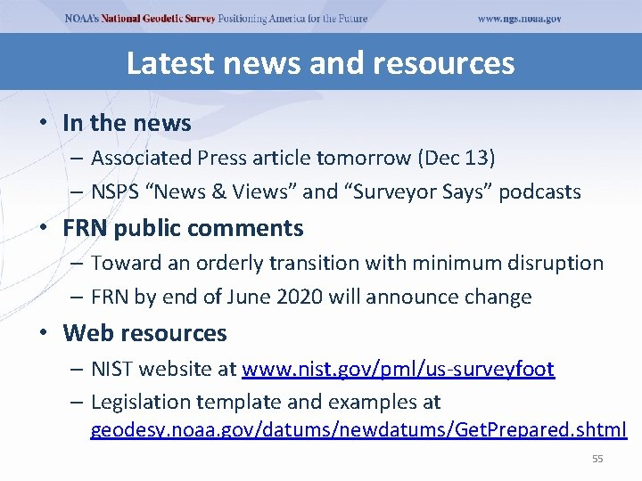 Latest news and resources • In the news – Associated Press article tomorrow (Dec