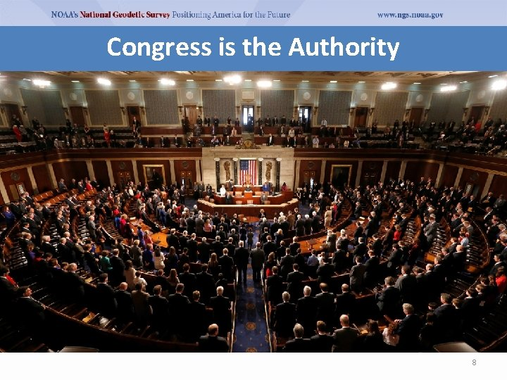 Congress is the Authority 8