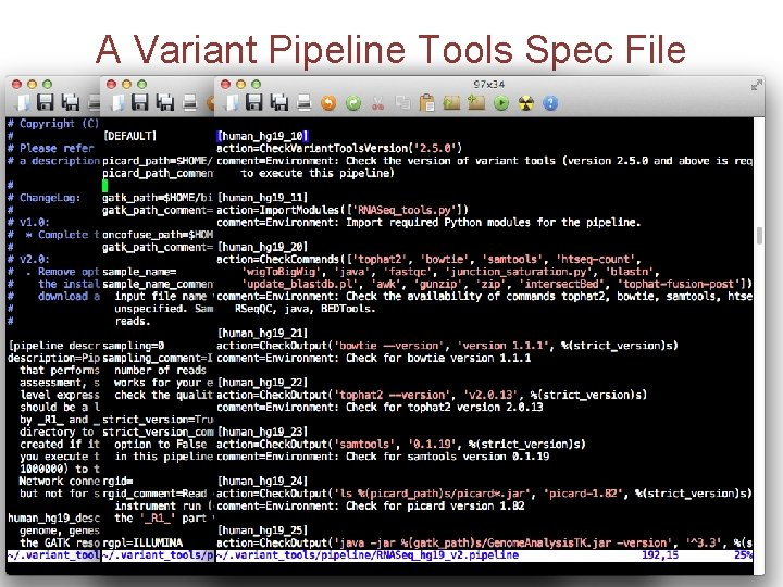 A Variant Pipeline Tools Spec File
